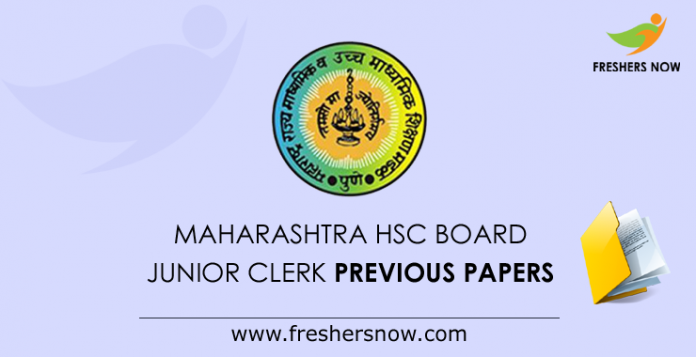 Maharashtra HSC Board Junior Clerk Previous Papers