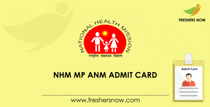 NHM MP ANM, Staff Nurse Admit Card