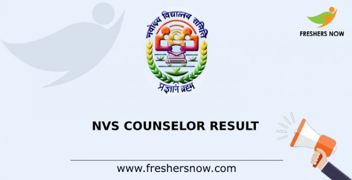 NVS Counselor Result