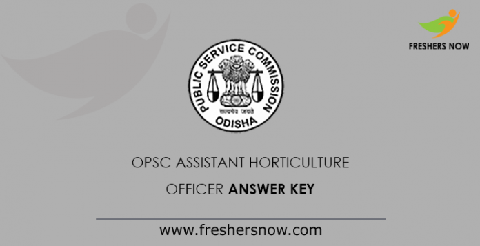 OPSC Assistant Horticulture Officer Answer Key