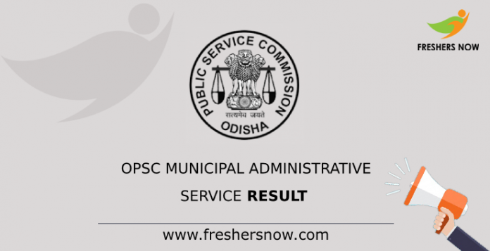 OPSC Municipal Administrative Service Result