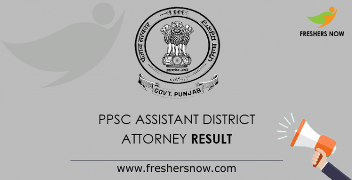 PPSC Assistant District Attorney Result