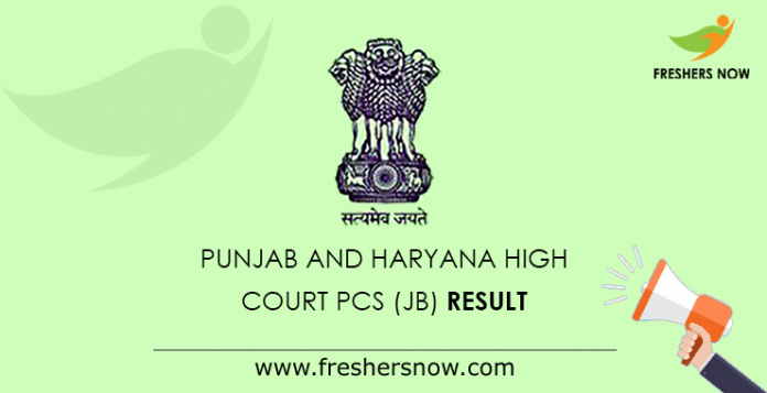 Punjab and Haryana High Court PCS (JB) result