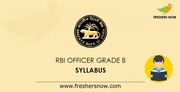 RBI Officer Grade B syllabus