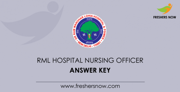 RML Hospital Nursing Officer Answer Key