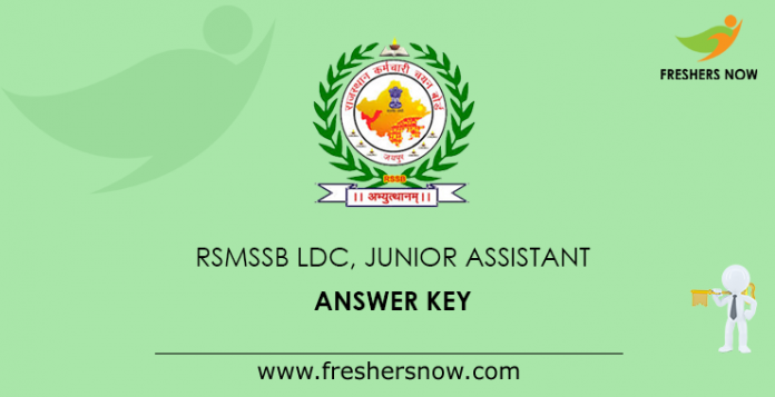 RSMSSB LDC, Junior Assistant Answer Key
