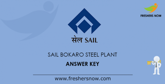 SAIL Bokaro Steel Plant Answer Key