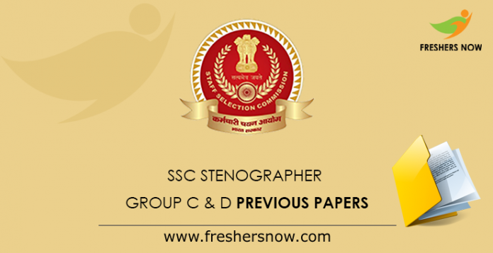 SSC Stenographer Group C & D Previous Papers