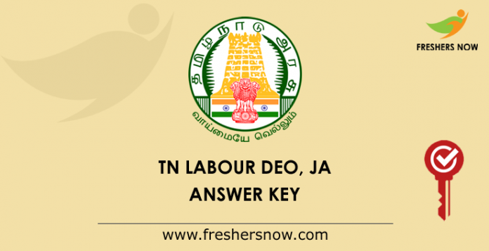 TNCWWB DEO, Junior Assistant Answer Key 2019 PDF | Get Exam Key