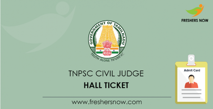 TNPSC Civil Judge Hall Ticket