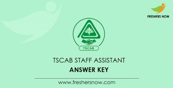 TSCAB Staff Assistant Answer Key