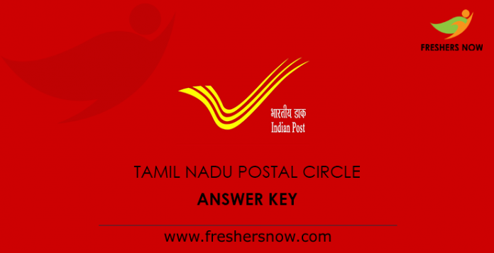 Tamil Nadu Postal Circle Answer Key