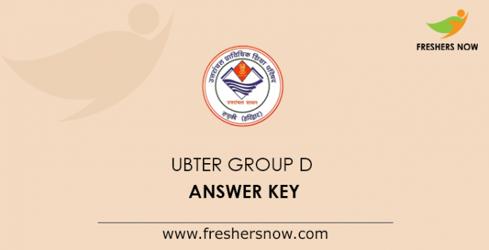 UBTER Group D Answer Key