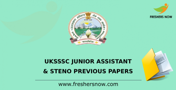 UKSSSC Junior Assistant, Steno Previous Papers