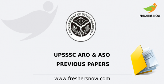 UPSSSC ARO & ASO Previous Papers