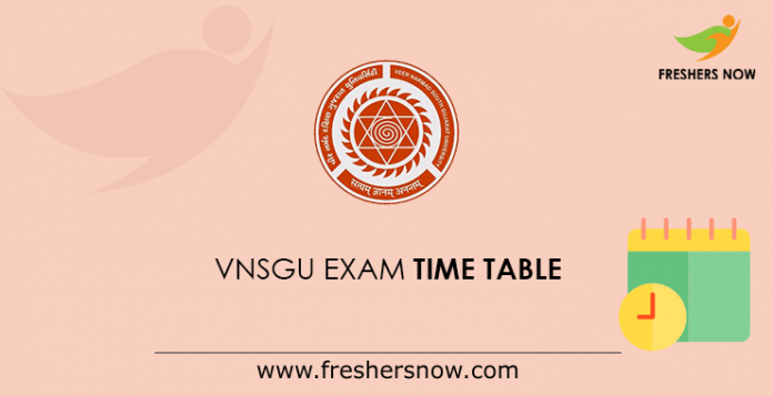 VNSGU Exam time table