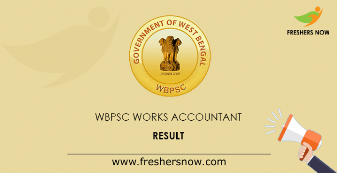 WBPSC Works Accountant Result