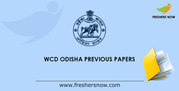 WCD Odisha Previous Papers