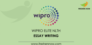 Wipro-Elite-NLTH-Essay-Writing