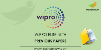 Wipro Elite NLTH Previous Placement Papers