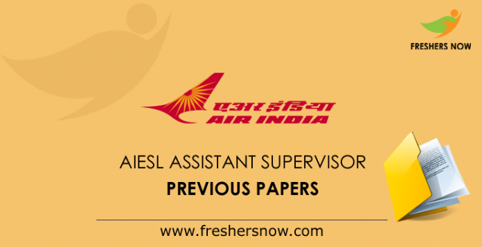 AIESL Assistant Supervisor Previous Papers