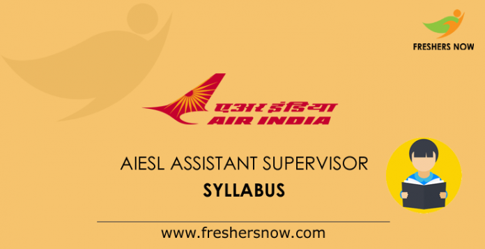 AIESL Assistant Supervisor Syllabus