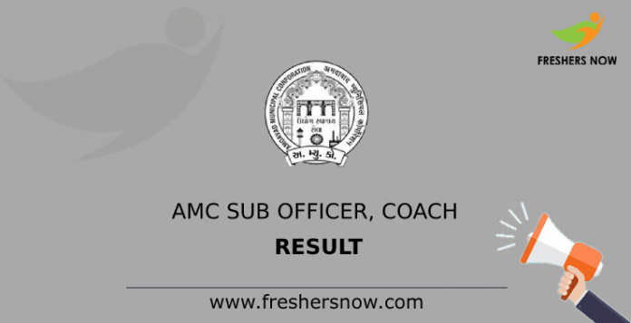 AMC Sub Officer, Coach Result