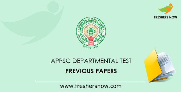 APPSC Departmental Test Previous Papers