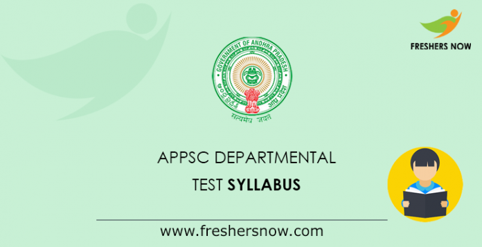 APPSC Departmental Test Syllabus
