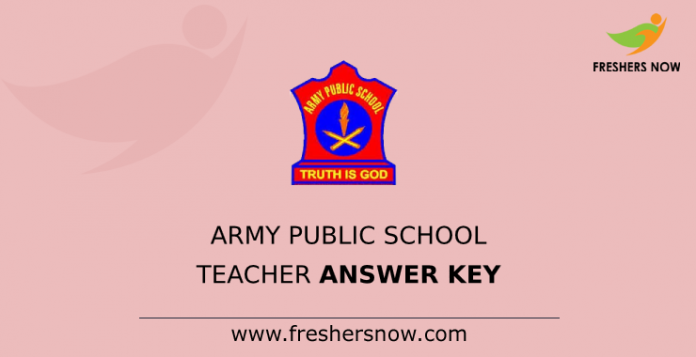 Army Public School Teacher Answer Key