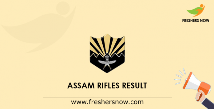 Assam Rifles Result
