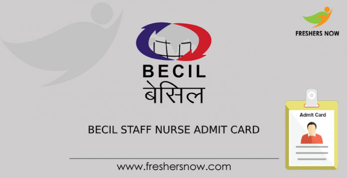 BECIL Staff Nurse Admit Card