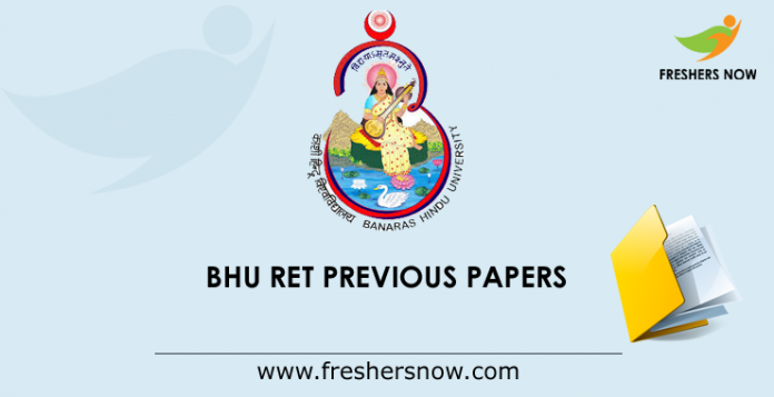 BHU RET Previous Papers