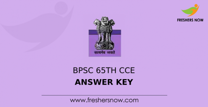 BPSC 65th CCE Answer Key