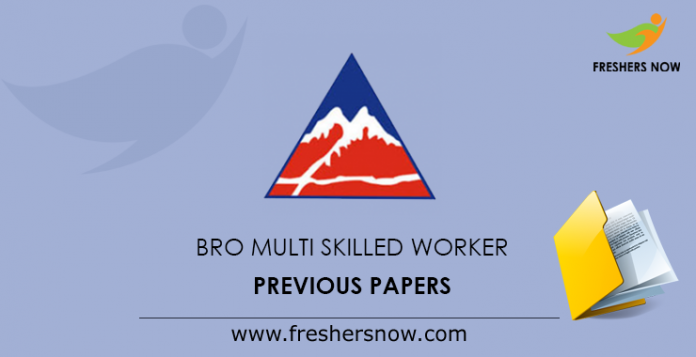BRO Multi Skilled Worker Previous Papers