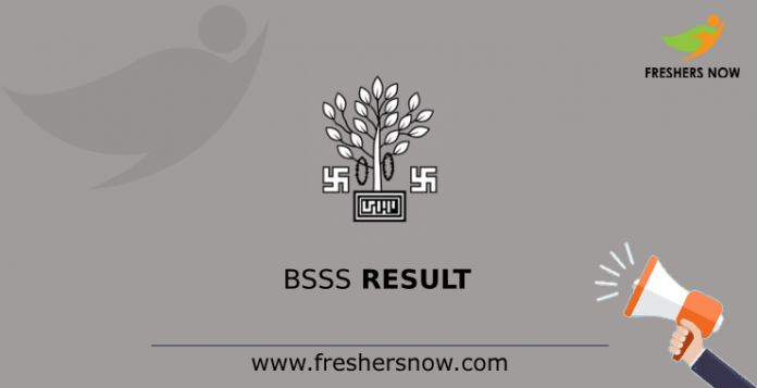 BSSS Executive Assistant Result