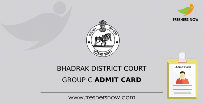 Bhadrak District Court Group C Admit Card