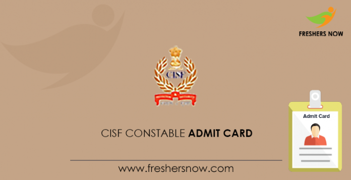 CISF Agent Admission Card