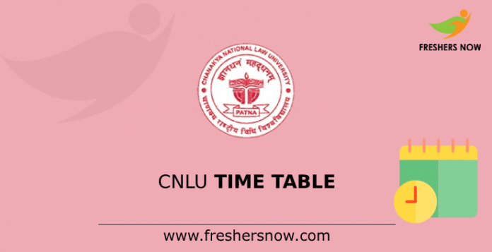 CNLU Time Table
