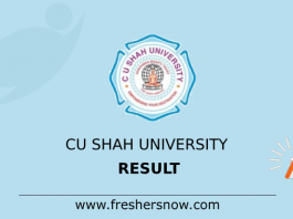 CU Shah University Result