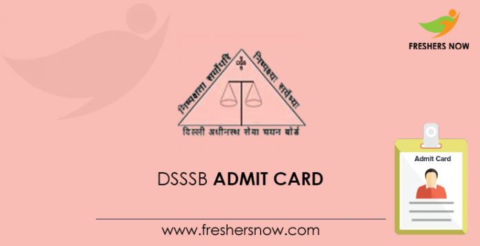 DSSSB Admit Card