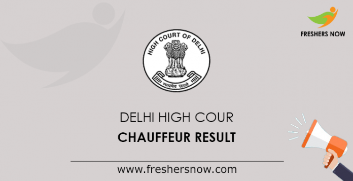 Delhi High Court Chauffeur Result