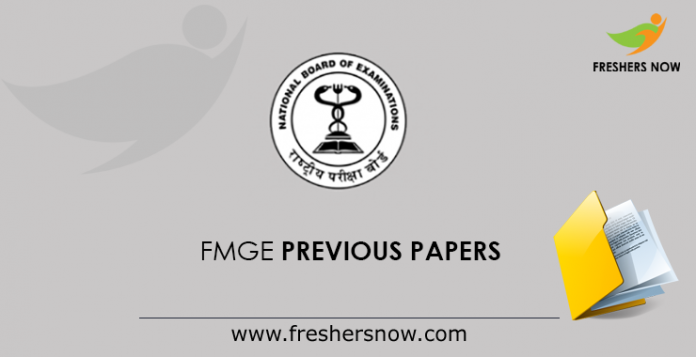 FMGE Previous Papers