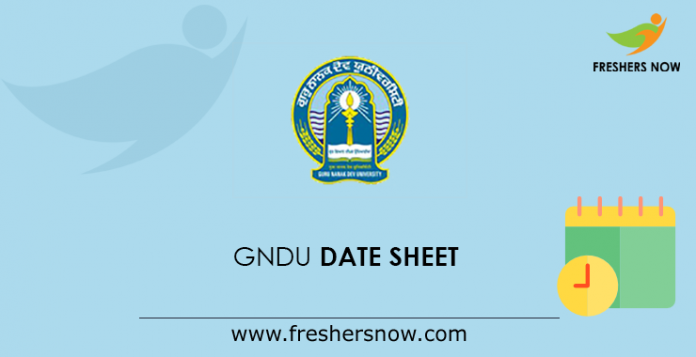 GNDU Time Table