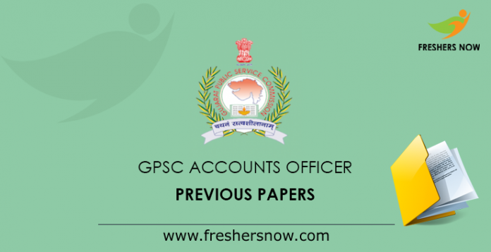 GPSC Accounts Officer Previous Papers