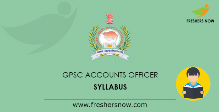 GPSC Accounts Officer Syllabus