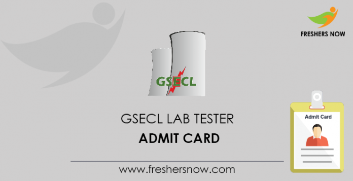 GSECL Lab Tester Admit Card