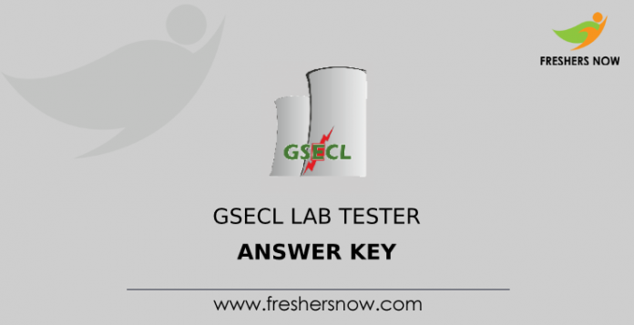 GSECL Lab Tester Answer Key