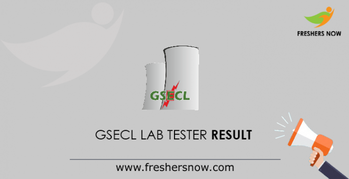 GSECL Lab Tester Result