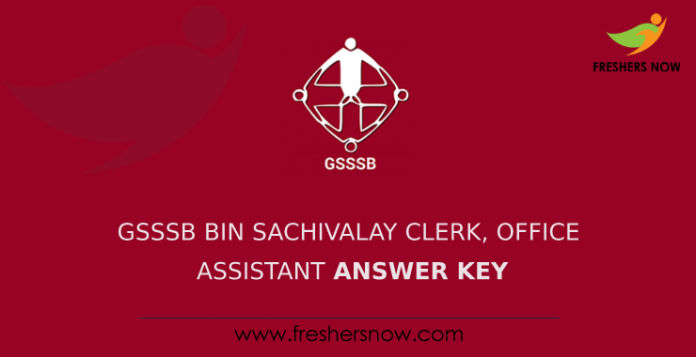 GSSSB Bin Sachivalay Clerk, Office Assistant Answer Key